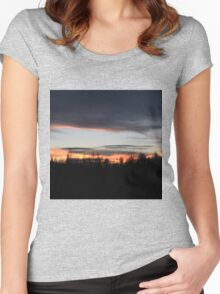 Silhouette Sunset Women's Fitted Scoop T-Shirt