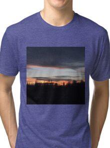 Silhouette Sunset Tri-blend T-Shirt
