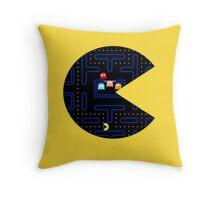 Seethrough Pacman Throw Pillow
