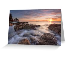 Waimama Bay Sunrise Drift Greeting Card