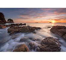 Waimama Bay Sunrise Drift Photographic Print
