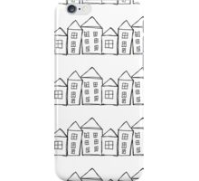 Houses . Hand drawn pattern iPhone Case/Skin