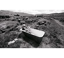 Bathing At Bodie Photographic Print