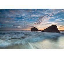 Newdicks Shark Fin Rock Photographic Print