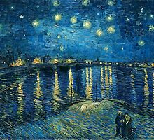 Vincent Van Gogh - Starry Night on the Rhone by lifetree