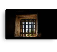 Old gaol cell window Canvas Print