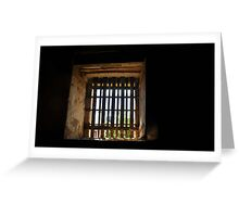 Old gaol cell window Greeting Card