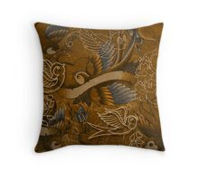 Traditional Birds & Rose Tattoos Throw Pillow