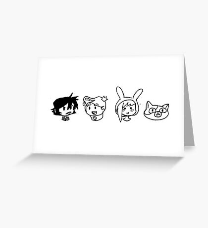 Adventure Time - Lineup Greeting Card