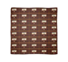 Retro Library Card Catalog Drawers with Author Names Scarf