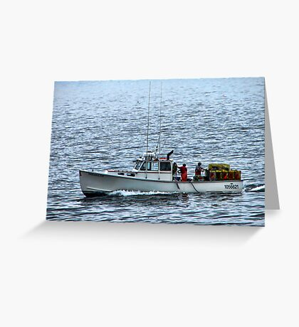 Maine Lobster Catcher Greeting Card