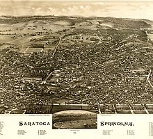 Panoramic Maps Saratoga Springs NY 1888 by wetdryvac