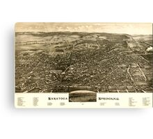 Panoramic Maps Saratoga Springs NY 1888 Canvas Print
