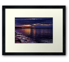 Escaping Rays Framed Print