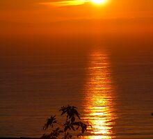 Christmas Eve 2010 Sunset over Newport Beach, CA, USA by mensoart