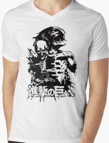 Attack on Titan tshirt Shingeki no Kyojin Mens V-Neck T-Shirt
