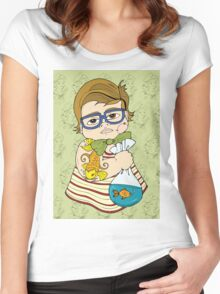 Tattooed Baby 003 Women's Fitted Scoop T-Shirt