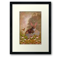 Annie Wants To Be The Easter Bunny Framed Print