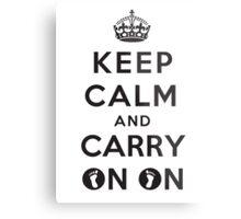 Keep Calm and Carry On On Metal Print