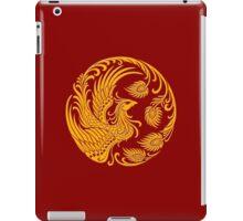 Traditional Yellow Chinese Phoenix Circle iPad Case/Skin
