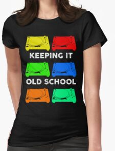 OLD SCHOOL TECHNICS Womens Fitted T-Shirt