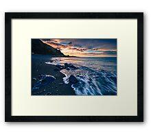 Kirikiri Bay Dawn Rush Framed Print