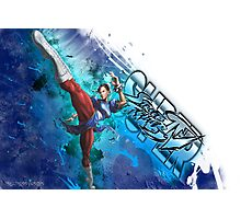 Super Street Fighter 4 - Grunge of Chun Li Photographic Print