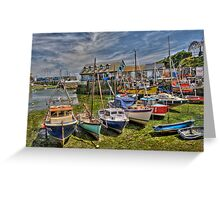 mevagissy harbour.  Greeting Card
