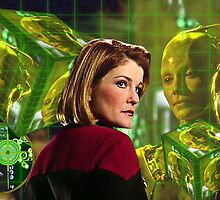 Janeway and Borg Queen Cubes by frankulaflickr