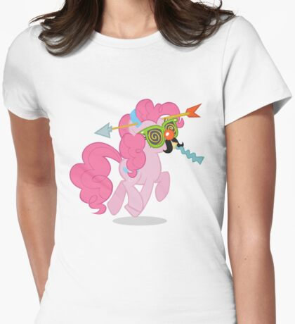 Crazy pinkie pie Womens Fitted T-Shirt