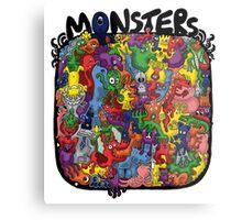 Monster Mash Up Metal Print
