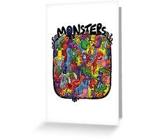 Monster Mash Up Greeting Card