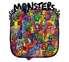 Monster Mash Up Photographic Print