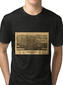 Panoramic Maps Bird's eye view of Butte-City Montana county seat of Silver Bow Co 1884 Tri-blend T-Shirt