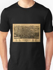 Panoramic Maps Bird's eye view of Butte-City Montana county seat of Silver Bow Co 1884 Unisex T-Shirt