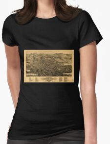 Panoramic Maps Bird's eye view of Butte-City Montana county seat of Silver Bow Co 1884 Womens Fitted T-Shirt