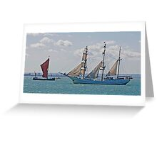 Ships that Pass Greeting Card