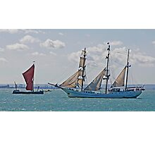 Ships that Pass Photographic Print