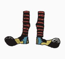 Cool Cute Funny Clown Feet Baby Tee