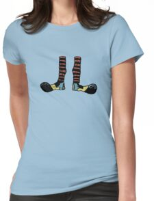 Cool Cute Funny Clown Feet Womens Fitted T-Shirt