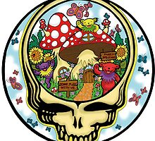 Grateful Dead - Steal Your Face, Dancing Bears and Mushrooms by Littledasypus