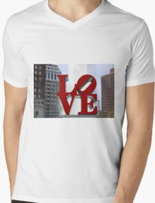 Love Park Mens V-Neck T-Shirt