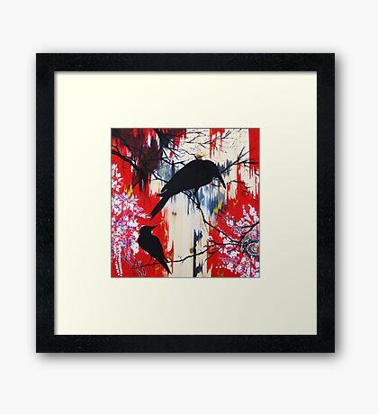 black birds 1 Framed Print