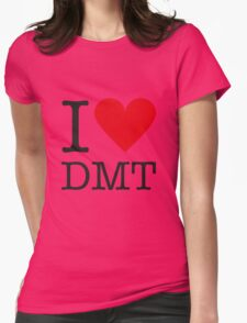 I love DMT Womens Fitted T-Shirt