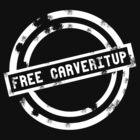 """Free CARVERitUP"" White Stamp by CARVERitUP"