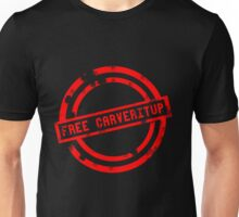 """""""Free CARVERitUP"""" RED Stamp Unisex T-Shirt"""