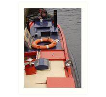 Birmingham Canal Boat Art Print
