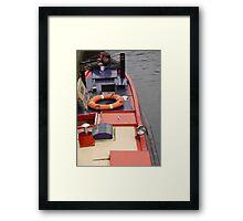 Birmingham Canal Boat Framed Print