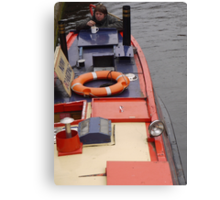 Birmingham Canal Boat Canvas Print