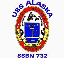 USS Alaska (SSBN-732) Crest Unisex T-Shirt